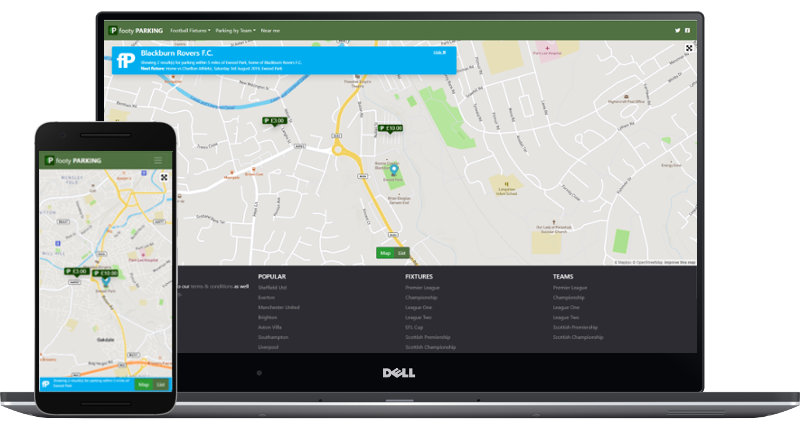 footy PARKING is available via desktop or mobile